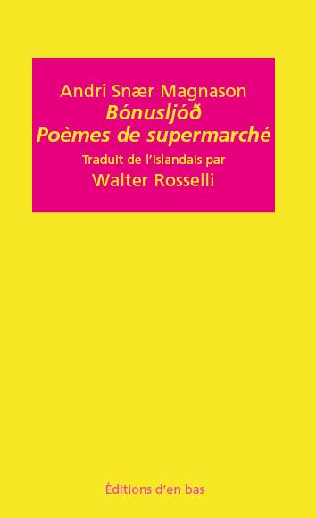 Magnason bonus poemes de supermarche couverture