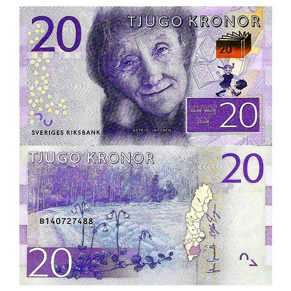 Nd 2015 billet sue de 20 kronor astrid